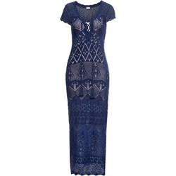 57ea0d981d Sukienka niebieska Bodyflirt Boutique z dzianiny do pracy