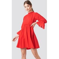 39ce8cd60d Czerwone sukienki długi rękaw golf
