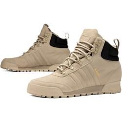 bezowe zimowe buty adidas