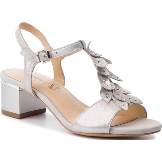 Sandały damskie Caprice skórzane na obcasie Buty Damskie RE biały Sandały damskie KKLJ