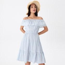768975c383 Sukienka House niebieska midi z krótkim rękawem
