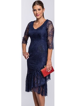 Sukienka koronkowa granatowa Florita Semper   - kod rabatowy