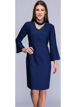 Suknia granatowa  Adeline Semper  promocja   - kod rabatowy