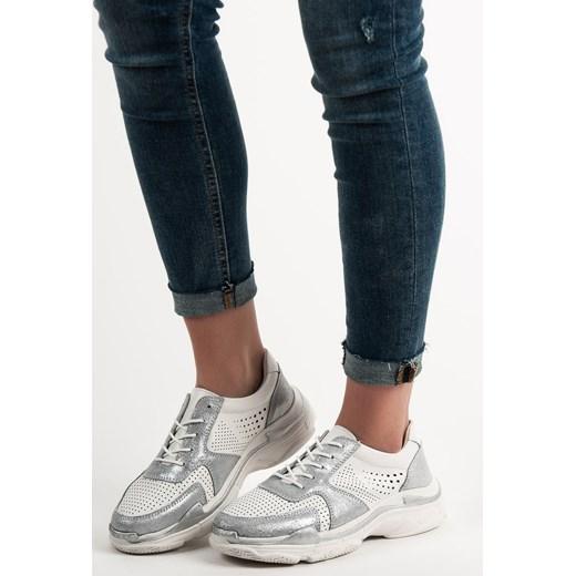 92d569dd Sneakersy damskie CzasNaButy bez wzorów1 na wiosnę młodzieżowe wiązane ...