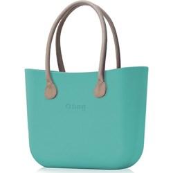 ff8f0ca9b2875 Shopper bag O Bag turkusowa matowa do ręki duża bez dodatków