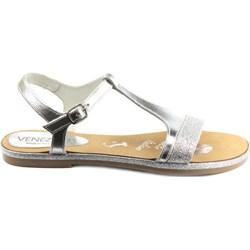 04fd513217fe1 Sandały damskie Venezia gładkie bez obcasa na płaskiej podeszwie casual