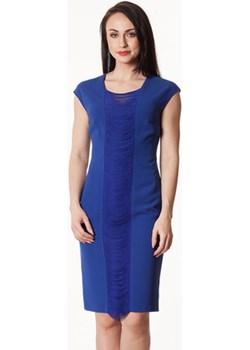 Chabrowa sukienka z pasem frędzli Dorota  Semper promocja   - kod rabatowy