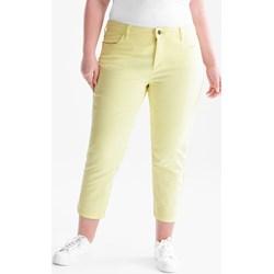 97cb076ea5b09 Spodnie damskie Yessica casual żółte wiosenne