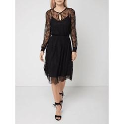 5e1f573652 Sukienka Esprit z dekoltem w literę v prosta z długim rękawem na sylwestra