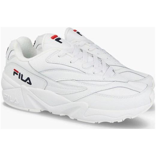 257b5ca2 Buty sportowe damskie białe Fila dla biegaczy młodzieżowe wiązane bez wzorów