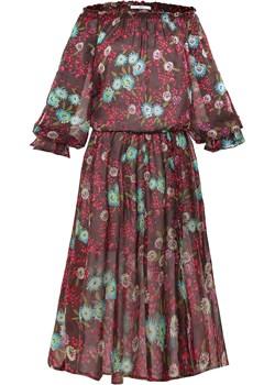 Jedwabna letnia sukienka Tamira fioletowy  SU unusual woman  - kod rabatowy