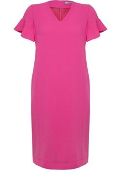 Elegancka sukienka różowa Meliata rozowy  SU unusual woman  - kod rabatowy