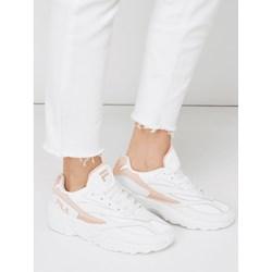 fba36e7b6 Sneakersy damskie Fila sznurowane skórzane