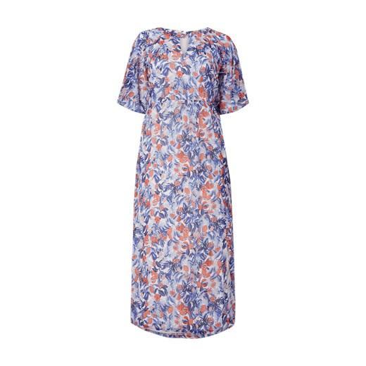 9a5999964b Sukienka Junarose z krótkim rękawem w kwiaty prosta maxi w Domodi