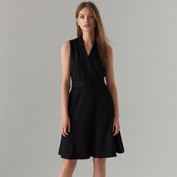448f1be20e Czarna sukienka Mohito do pracy bez wzorów mini
