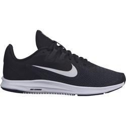 6a740495ce745c Czarne buty sportowe damskie Nike dla biegaczy downshifter bez wzorów  sznurowane
