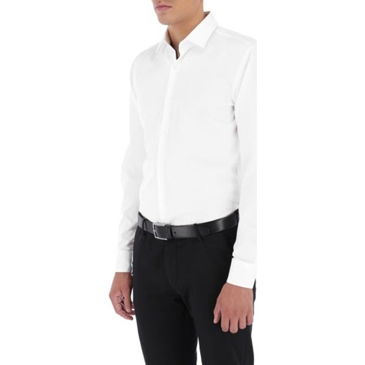7116566f4619a ... klasycznym kołnierzykiem z długim rękawem; Koszula męska biała Hugo  Boss elegancka ...