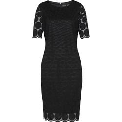 80618c481e Sukienka Bonprix z okrągłym dekoltem z krótkimi rękawami elegancka midi