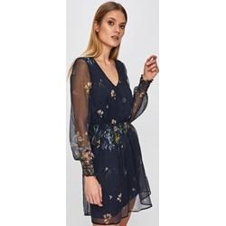 4badc57f8f Sukienka Answear casual z długim rękawem granatowa mini tkaninowa do pracy