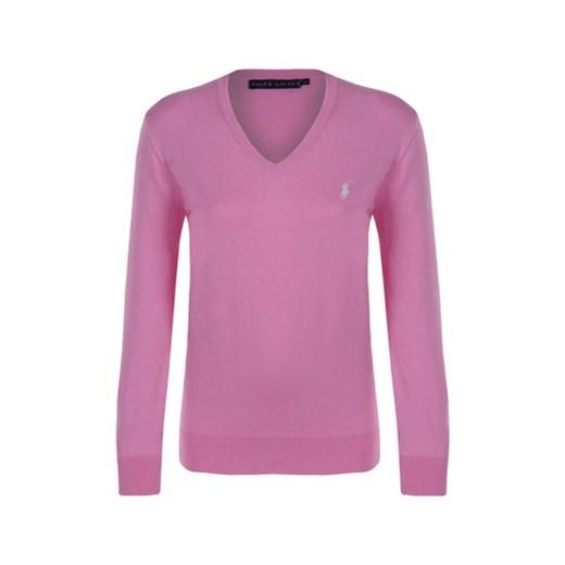 68eec014b12344 Różowy sweter regular fit RALPH LAUREN z białym logo Ralph Lauren S  Fashion4VIP ...