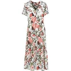 90f8abddd Sukienka Freequent z dekoltem v w kwiaty na spacer boho maxi z krótkimi  rękawami