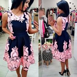 Sukienka rozkloszowana FLOWER Tajus  Tajus - butik odzieżowy - kod rabatowy