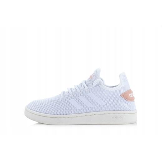Buty sportowe damskie Adidas Neo na wiosn? sznurowane na p?askiej podeszwie