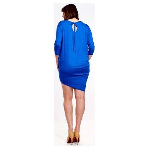 953bf37145 ... Sukienka Bomo Moda bez wzorów asymetryczna z długim rękawem