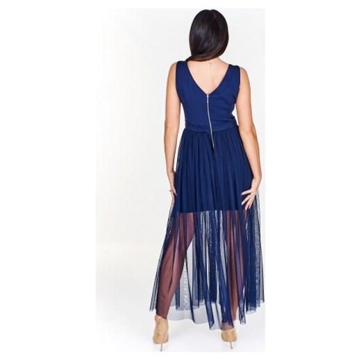 3780353b1b ... wesele maxi  Sukienka Adraino Ines Rose balowe tiulowa bez rękawów ...