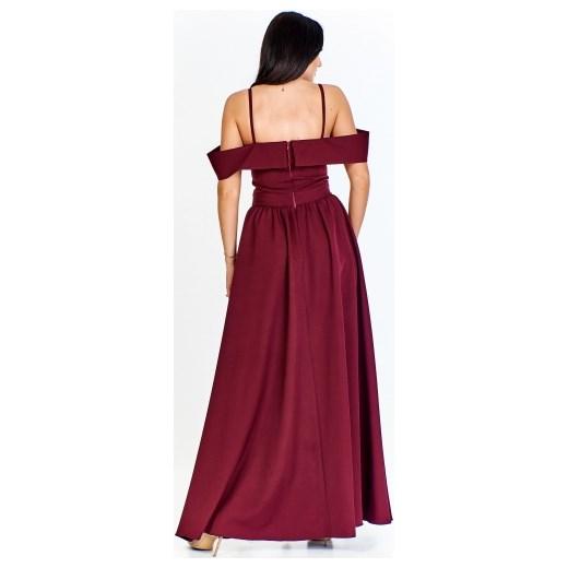 03781e75bb ... elegancka maxi na karnawał  Sukienka Keyla bez wzorów na jesień maxi