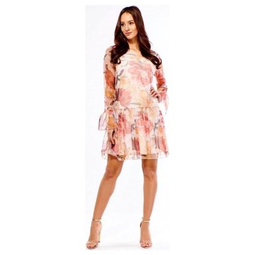 3cc30b2445 Sukienka Adika trapezowa na spacer tkaninowa w Domodi