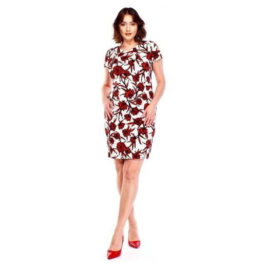 a646903c95 Wzorzysta sukienka Bellezza 50 ptakmoda.com ...