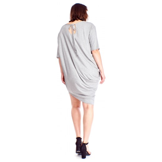 68e2fa8f62 ... Sukienka Bomo Moda asymetryczna z długim rękawem