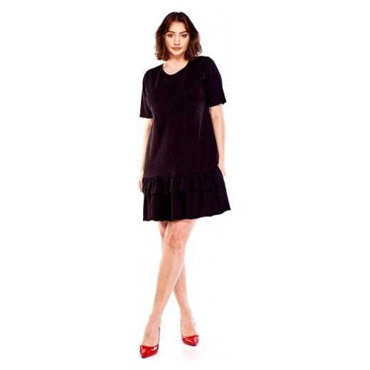 6dfa696eac Sukienka Bomo Moda bez wzorów z krótkimi rękawami dla puszystych w ...