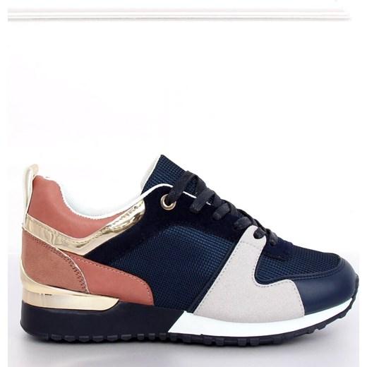 Buty sportowe damskie płaskie bez wzorów sznurowane Buty