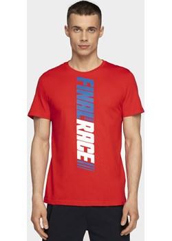 T-shirt męski TSM232 - czerwony   4F - kod rabatowy