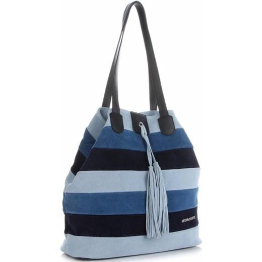 7f1f331981c59b Shopper bag Vittoria Gotti zamszowa skórzana. Shopper bag Vittoria Gotti na  ramię z frędzlami skórzana mieszcząca a8 ...