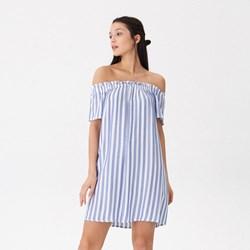 b0add3695e Sukienka House z krótkimi rękawami z dekoltem typu hiszpanka mini z odkrytymi  ramionami
