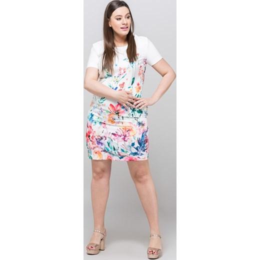 d1de617260 ... Sukienka Monnari na spacer mini prosta z krótkimi rękawami ...