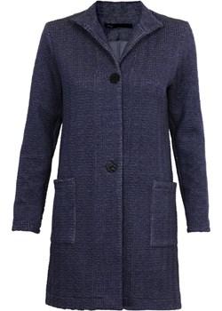 Płaszcz damski w formie narzutki ze stójką zapinany na guziki + kolory  Niren okazyjna cena   - kod rabatowy
