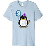Bluzka dziewczęca Penguin Birthday Shirt Kid Boy Girl Gift Party Tee - Amazon