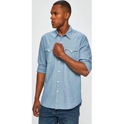 0d19ccd42a6732 Koszula męska niebieska Levi's z klasycznym kołnierzykiem gładka z bawełny  casualowa