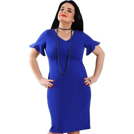 5239d70444 Sukienka Lamar z krótkimi rękawami midi w Domodi