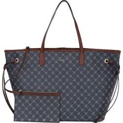 b08f01af370ed Niebieska shopper bag Joop! duża bez dodatków z nadrukiem