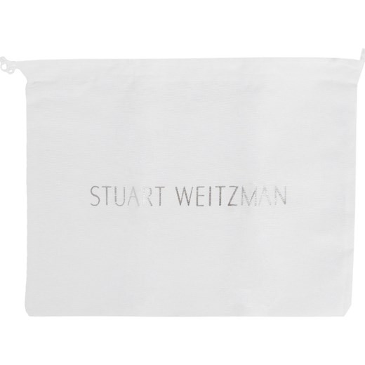 Sandały damskie Stuart Weitzman na lato zamszowe gładkie na obcasie