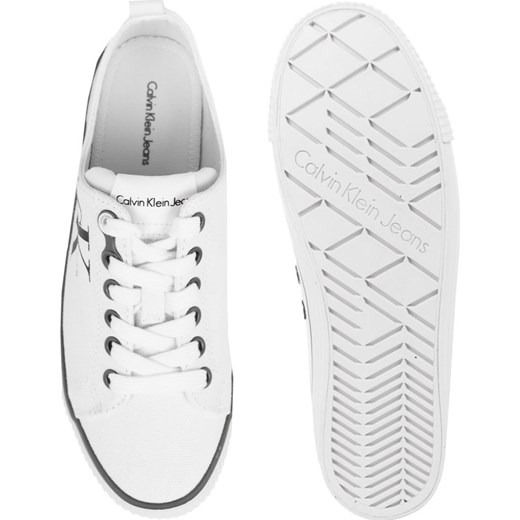 Trampki damskie białe Calvin Klein sznurowane