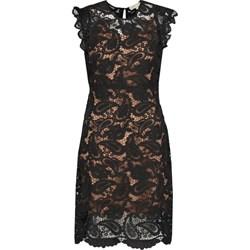 35e5a4b610 Sukienka czarna Michael Kors koronkowa prosta z okrągłym dekoltem