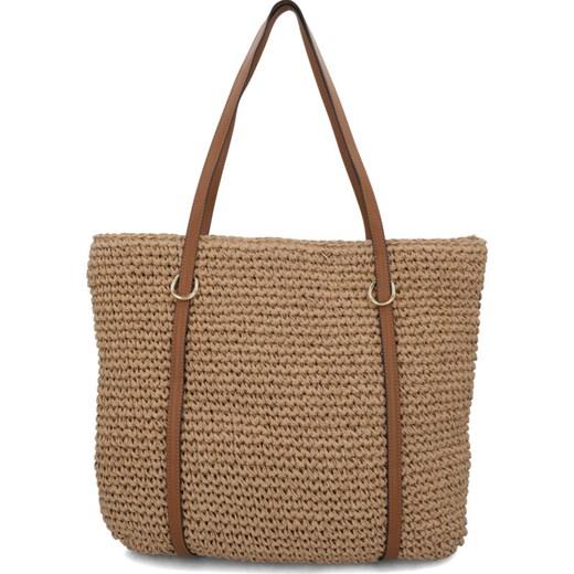 Shopper bag Lauren Ralph brązowa duża