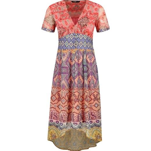 9dd2ecade6 Sukienka Desigual casual na uczelnię midi z krótkim rękawem w Domodi