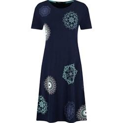 b4abfc108c Sukienka Desigual rozkloszowana midi z okrągłym dekoltem